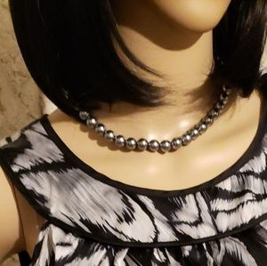 Dresses - Black & Silver dress, belt & necklace